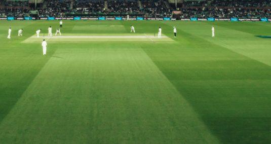 A cricket match