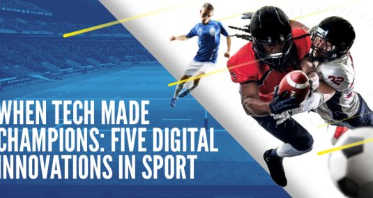 "Sports players, and the words: ""When tech made champions: five digital innovations in sport"""