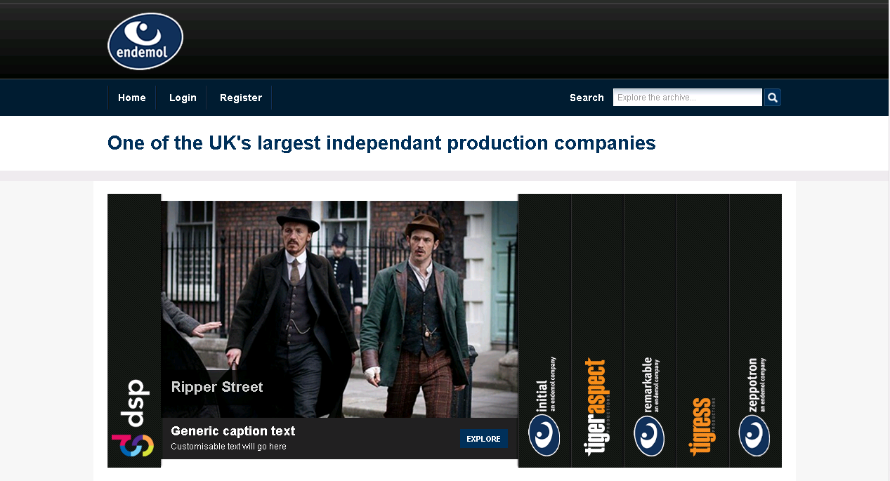 An online catalogue of programmes for Endemol | Imagen