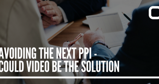 """A close-up of hands at a meeting, and the words """"Avoiding the next PPI – could video be the solution?"""""""