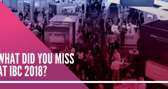 """Imagen's IBC stand, and the words """"What did you miss at IBC?"""""""