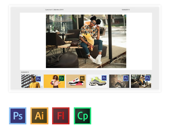 Store Adobe PSD/AI/FLA/EPS Files supported by Imagen