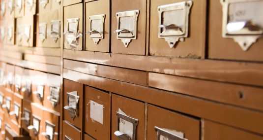 Retro archive drawers