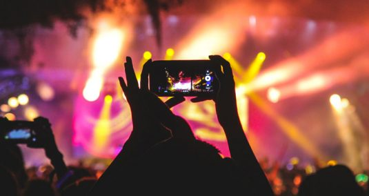 An iphone recording at a gig