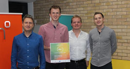 Four Imagen colleagues collect a Gold CTA Award