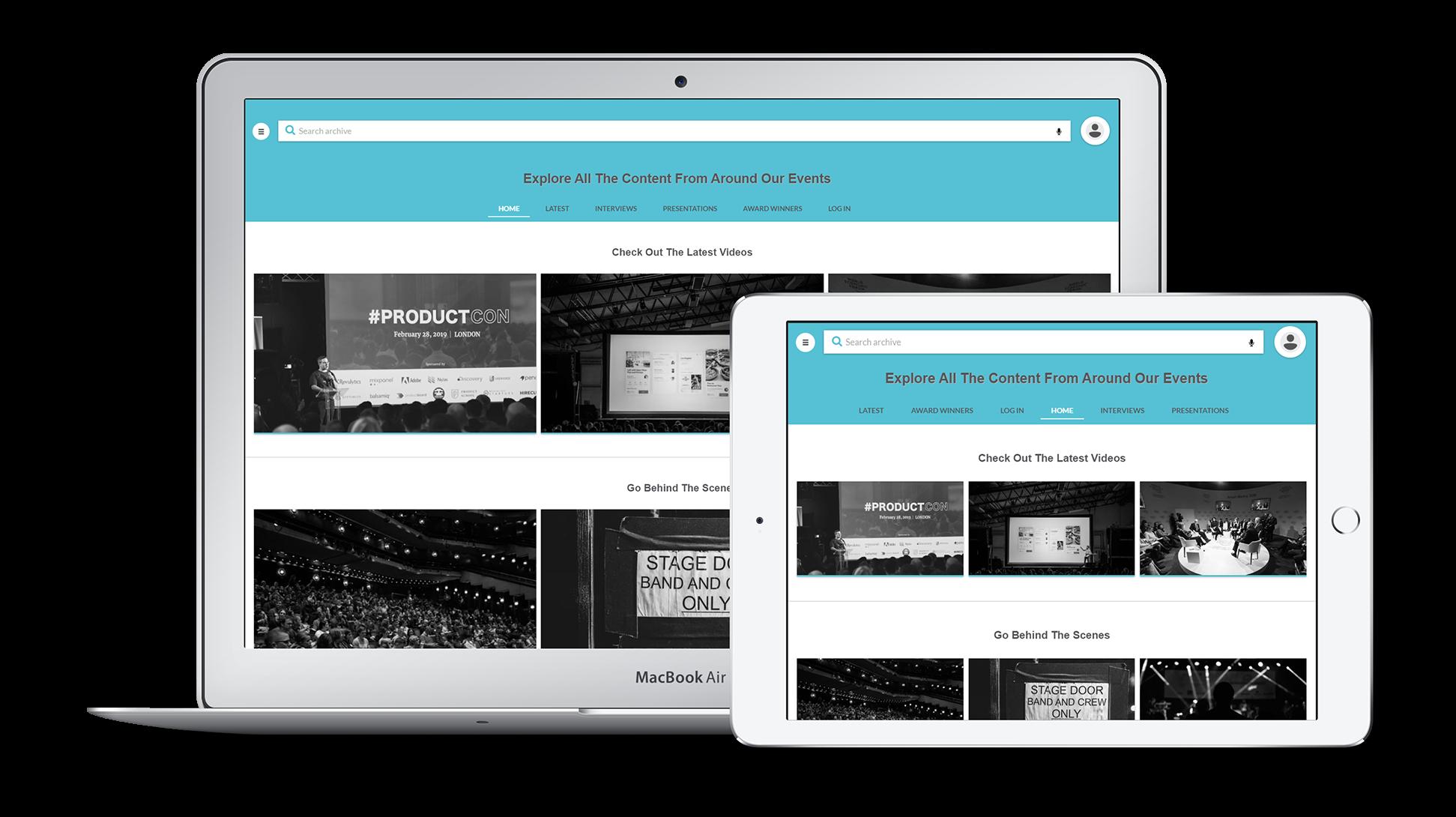 event video portal